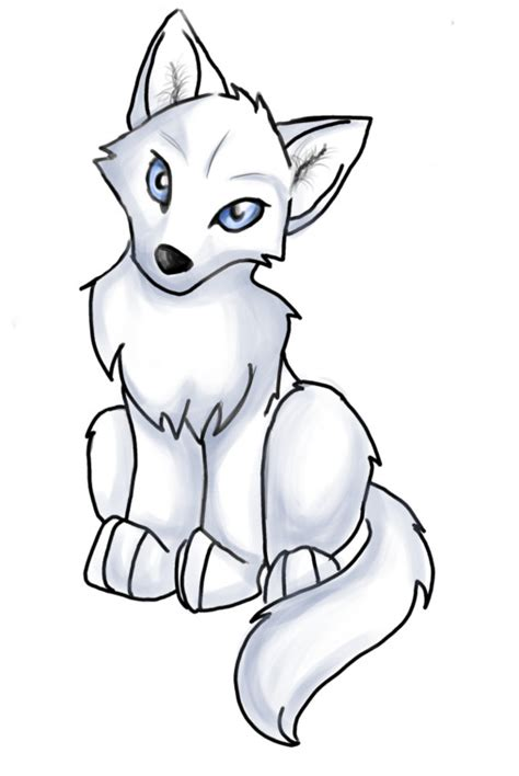 anime wolf drawings easy anime wolf pup easy clipart best