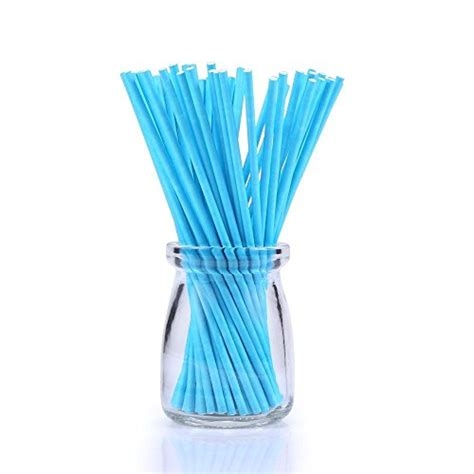 colored lollipop sticks colored lollipop sticks 100 count 6 inch blue white