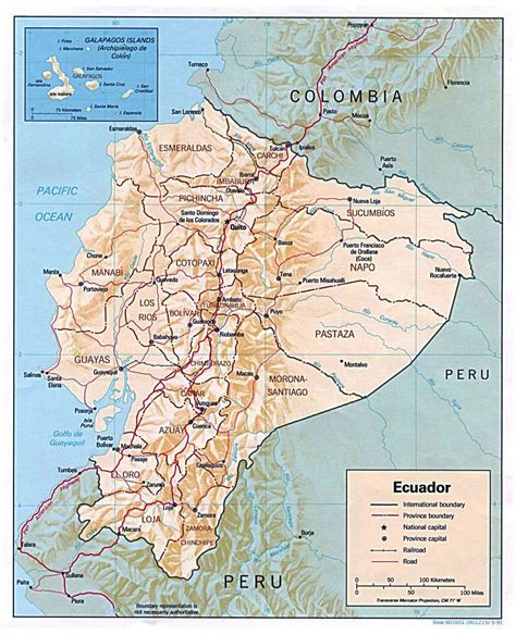 printable road map of ecuador large detailed political and administrative map of ecuador
