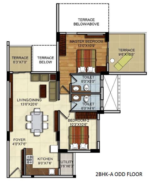 2 bhk floor plans residential apartments floor plans site plan 2 bhk 3