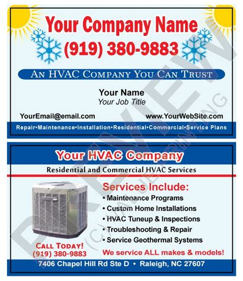 hvac business card template 8 best hvac business cards images on business