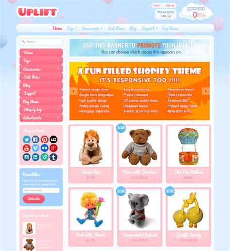 shopify themes toys 8 of the best kids shopify themes down