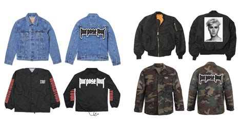 Purpose Tour Merch Hoodie justin bieber unveils purpose world tour merch upscalehype