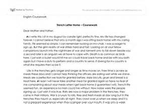 Trench Warfare Essay by In The Trenches Letter Home Gcse Marked By Teachers