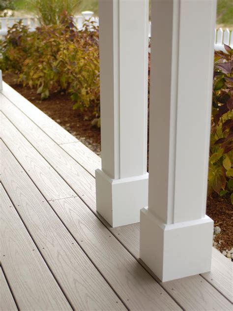 porch posts and columns hgtv the porch deck is constructed of azek decking a scratch
