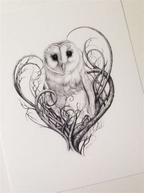 items similar to barn owl print owls limited edition