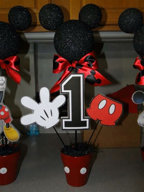 mickey mouse decorations diy diy mickey mouse centerpieces i made for my s 1st