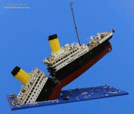 Lego Titanic Sinking titanic disaster model in lego i m the minifig of the