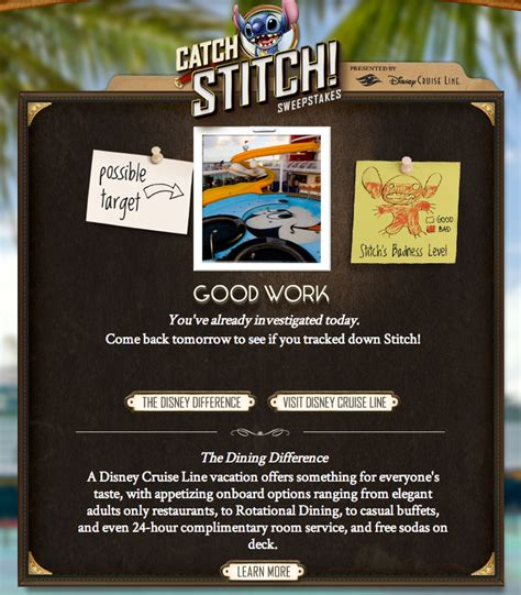 Disney My First Visit Sweepstakes - catch stitch sweepstakes is now underway the disney cruise line blog