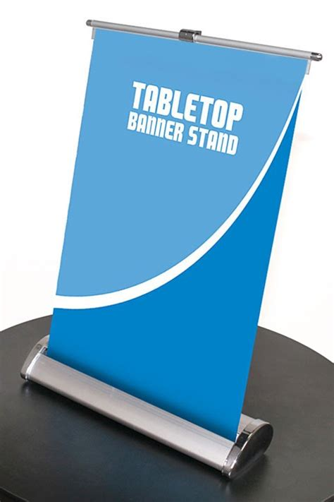 table top poster nimbus 8 table top retractable banner stand