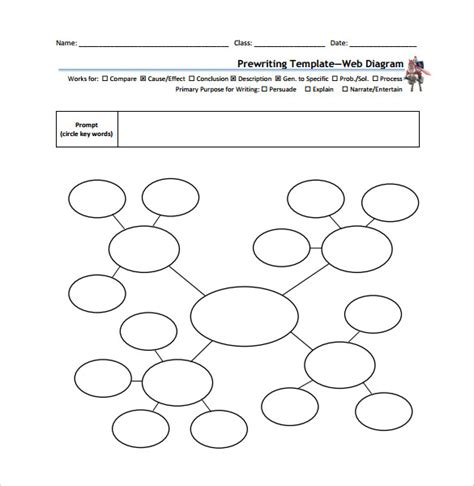 web diagram template word web printable printable paper