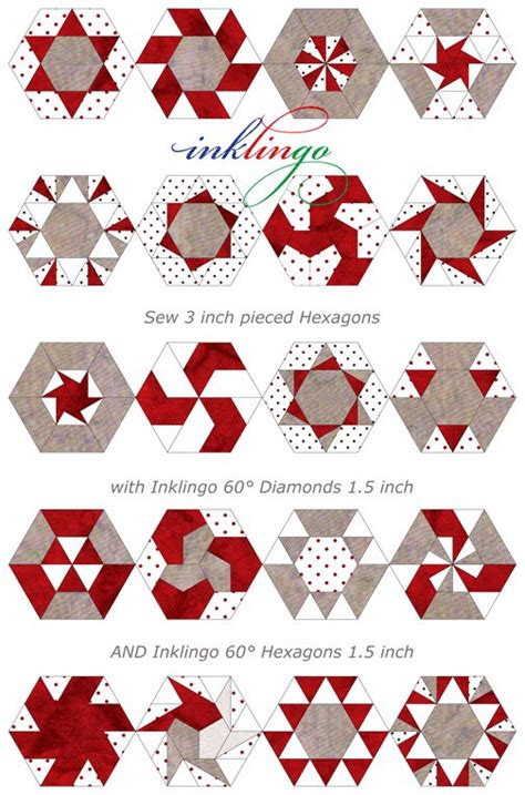 Patchwork Hexagons Patterns Quilt - best 25 hexagon quilt pattern ideas on