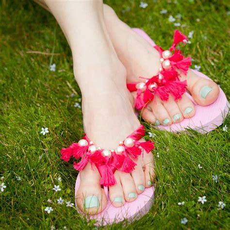 diy beaded flip flops tassel beaded flip flops diy