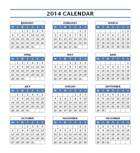 2014 calendar template for word 2014 calendar template free microsoft word templates