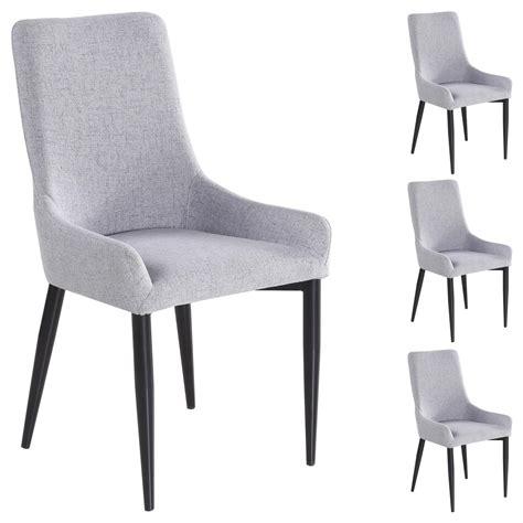 stuhl stoffbezug 4er set stuhl stoffbezug grau mobilia24