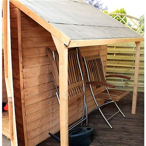 mercia wooden shed lean to kit 7x5ft