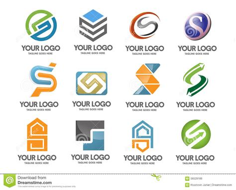Business Letter With Logo letter s logo company stock logo letter d company vector