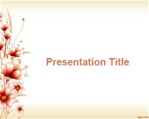 41 Best Floral Powerpoint Template Images On Pinterest Flower Template Powerpoint Free Style By