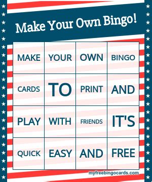 bingo card maker template free free custom bingo card generator bingo card generator