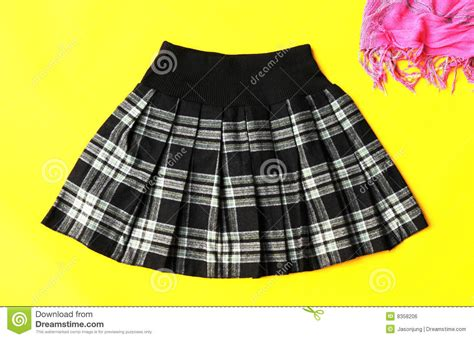 grid pattern fashion fashion skirt with grid pattern royalty free stock image