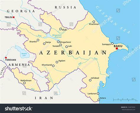 political map of azerbaijan azerbaijan political map capital baku national stock