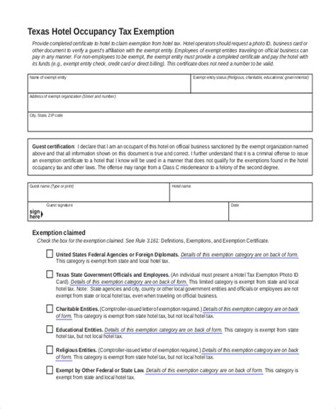 tax exemption form federal travel state tax exempt forms holliddays co