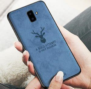 samsung galaxy   soft case jeans canvas motif deer