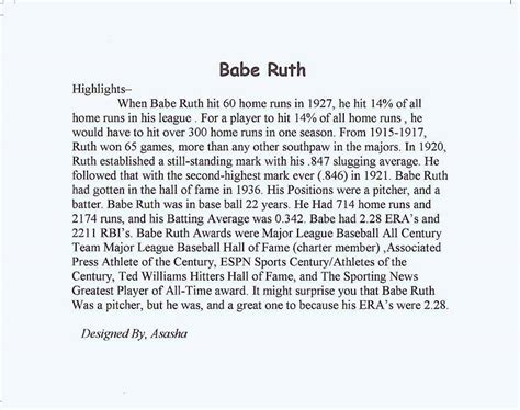 Ruth Essay by Ruth Biography Essay