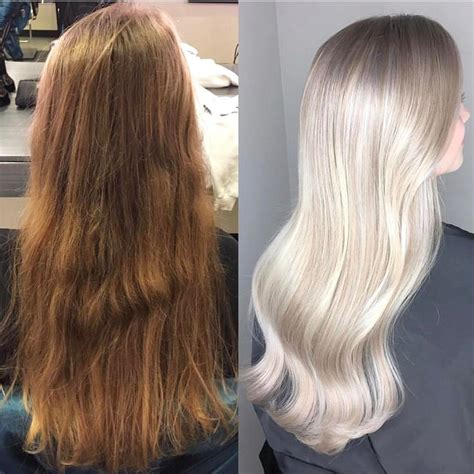 dorty blonde hair transformation from brown hair 295 best images about olaplex transformations on pinterest