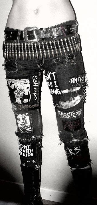 waup a gaun a stile crust punk pants jeans patches on denim my new jeans