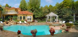 Nice Small Backyards Stock Photo Day View Of A Residential Mansion Backyard