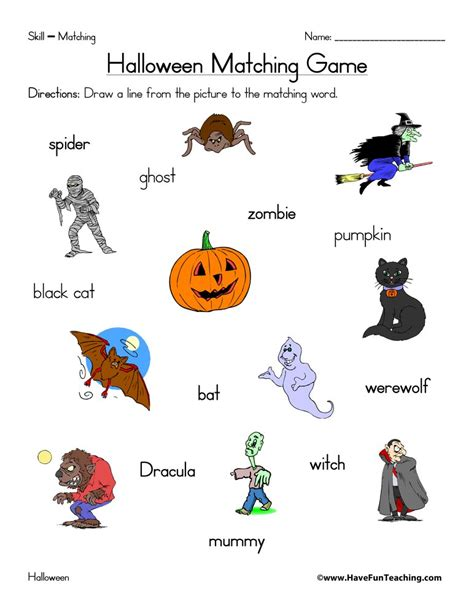 resources holidays halloween worksheets