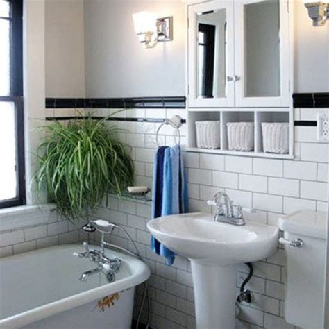 30 Black And White Bathroom Tiles In A Small Bathroom Small Black And White Bathrooms Ideas