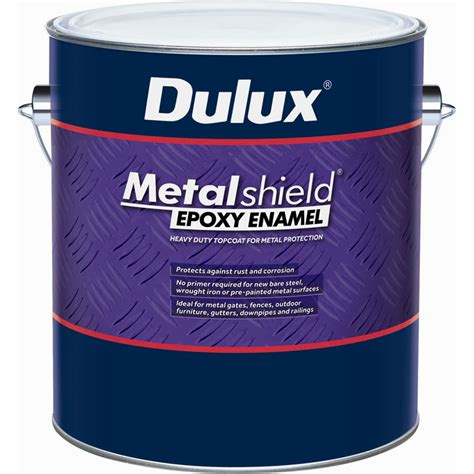 Decorate A Fence Dulux Metalshield 1l Gloss Black Topcoat Epoxy Enamel Paint