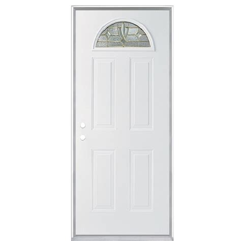 36 X 79 Exterior Door Shop Reliabilt Fan Lite Prehung Inswing Steel Entry Door Common 36 In X 80 In Actual 35 75