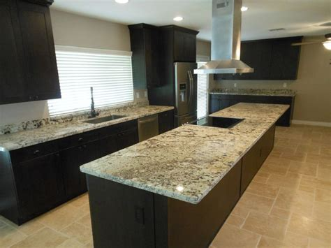 Espresso Kitchen Cabinets With Granite by Espresso Brown Shaker Cabinets With Juparana Delicates
