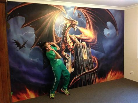 Transformers Wall Mural anne stokes dragon fury dgfasw001