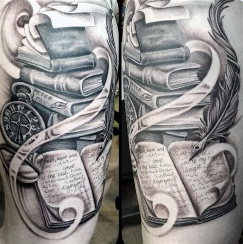 book tattoos  men reading inspired design ideas