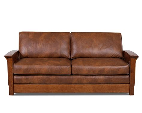 mission style couch comfort design palmer leather sofa cl7023s mission style