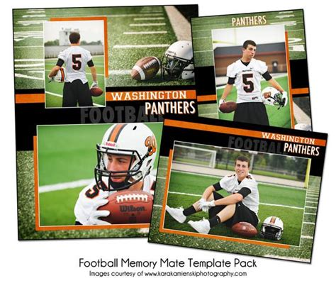 Football Pack D Sports Memory Mate Photo Templates Digital Free Football Memory Mate Templates