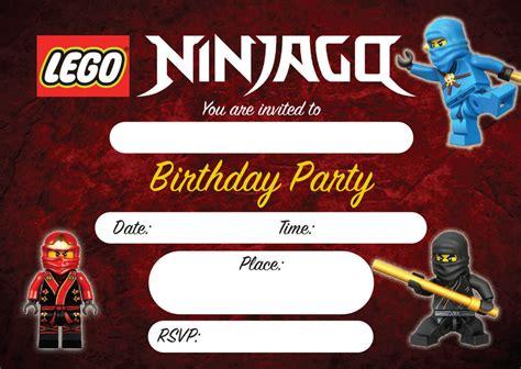 printable lego ninjago birthday invitations lego ninjago kids children birthday invitations invites