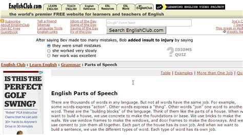 Parts Of Speech English Guide Org