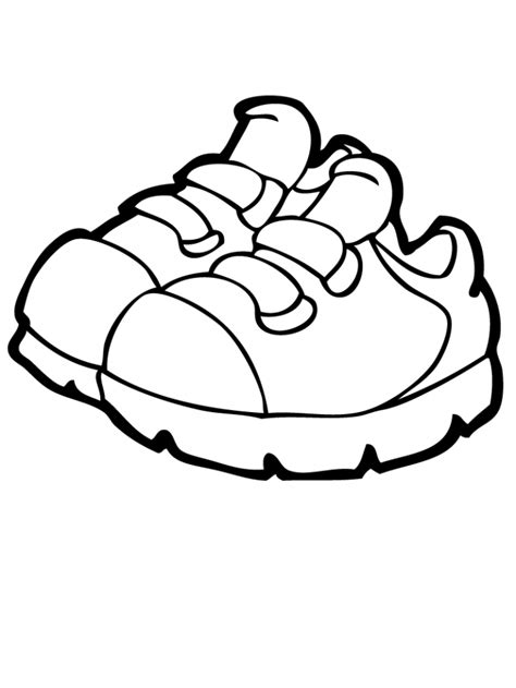 shoes coloring pages coloring home