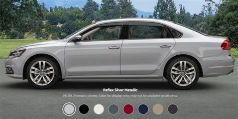 volkswagen passat configurations  colors