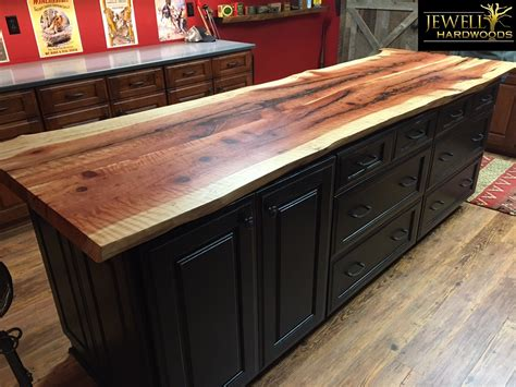 redwood bar top curly redwood live edge counter top jewell hardwoods