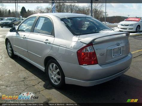 2006 Kia Spectra Sx 2006 Kia Spectra Sx Sedan Clear Silver Gray Photo 2