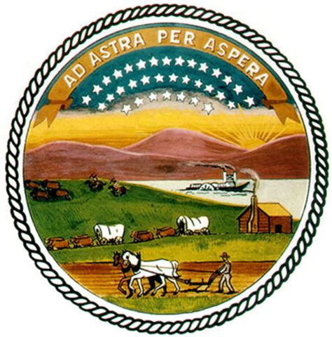 State Of Kansas Records Kansas Symbols 10c Kansas Historical Society
