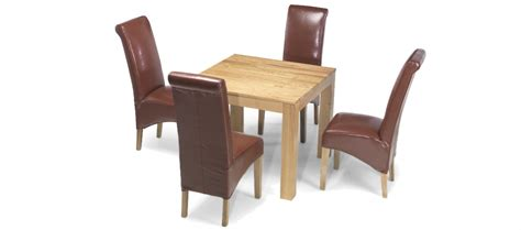 oak dining table and 4 chairs cube oak 90 cm dining table and 4 chairs quercus living