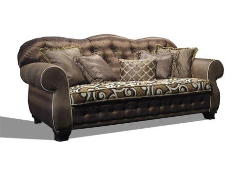 luxury classic sofa classic sofa with tufted backrest idfdesign