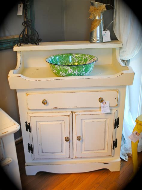 vintage handed painted dry sink  laura camry boutique
